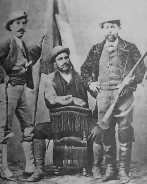 Antonio Galvez - Foto del Cantón con la bandera republicana